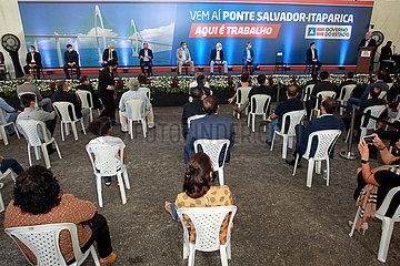 BRASILIEN-SALVADOR-SCHRÄGSEIL SEA BRIDGE-Vertragsunterzeichnung