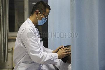 CHINA-HEILONGJIANG-HARBIN-TCM-ABEND AMBULANTE SERVICE (CN)