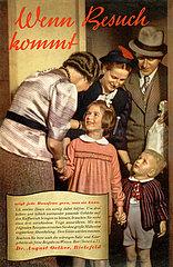 Wenn Besuch kommt  Werbung  Dr. Oetker  1953