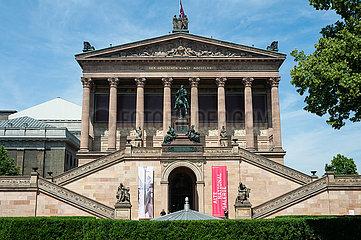 Berlin  Deutschland  Aussenansicht der Alten Nationalgalerie auf der Museumsinsel in Mitte
