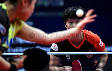 (SP) CHINA-ZHENGZHOU-TABLE-TENNIS ITTF-FINALS-Frauen sondert (CN)
