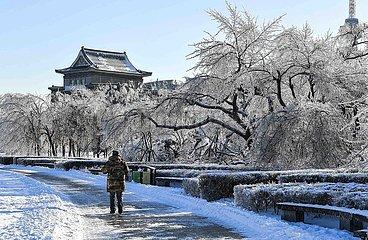 CHINA-JILIN-CHANGCHUN-SNOW-ALLTAG (CN)
