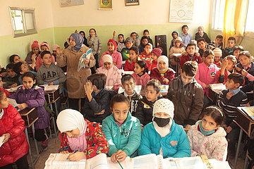 SYRIEN-Hasaka-Schulkinder