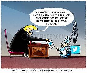 Verfuegung gegen Social Media