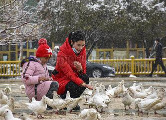 CHINA-XINJIANG-Kashgar-SNOW-ALLTAG (CN)
