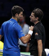 (SP) BRITAIN-LONDON-TENNIS-ATP FINALE-Semifinal