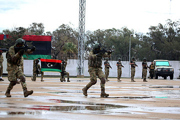 LIBYEN-TRIPOLIS-TÜRKEI-AUSGEBILDET STREITKRÄFTE-ABSCHLUSS-
