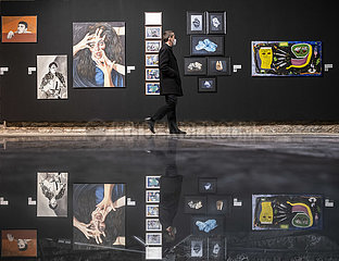 TÜRKEI-ISTANBUL-COVID-19-ART SHOW-BASE