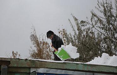 AFGHANISTAN-KABUL-SNOW