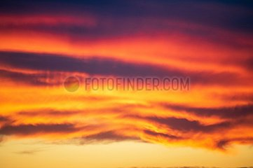 Sonnenuntergang Wolkenformation