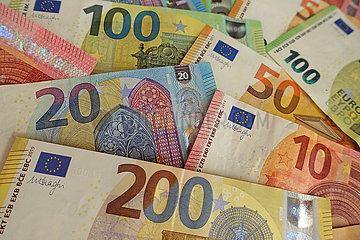 Berlin  Deutschland  Euroscheine