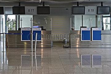 Deutschland  Nordrhein-Westfalen  Duesseldorf - Flughafen Duesseldorf waehrend der Coronapandemie