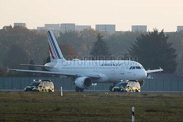 Berlin  Deutschland  Letzter Start vom Flughafen Berlin-Tegel: Air France AF1235