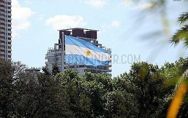 Fahne von Argentinien