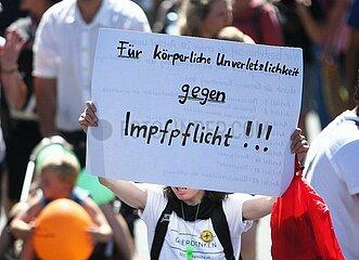 Protest gegen Impfpflicht