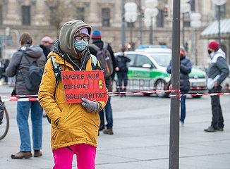 Protest gegen die Corona Maßnahmen in München
