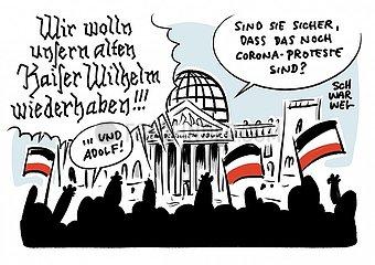 Protest gegen Corona-Politik : Entsetzen ueber Eskalation am Reichstag