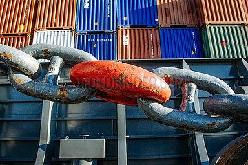 Container im Hafen (Symbolfoto Konjunktur)