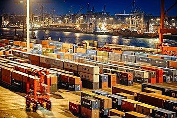 Eurogate Container Terminal Hamburg (Archivbild)