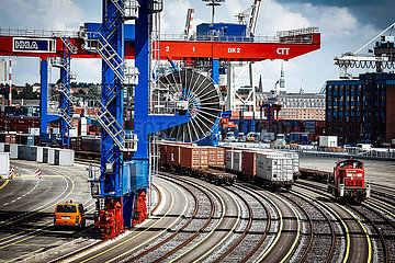 Container Terminal at the port of Hamburg