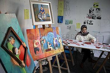 MIDEAST-GAZA CITY-ARTWORKS
