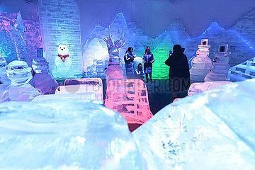 THAILAND-CHON BURI-ICE SCULPTURES