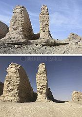 CHINA-XINJIANG-ANCIENT LOULAN-REPAIR WORK (CN)