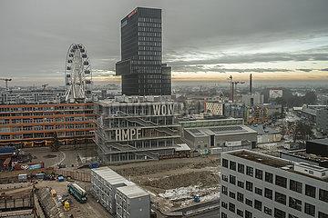 Ueberblick Werksviertel Mitte mit Riesenrad  Muenchen  Dezember 2020
