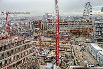 Ueberblick Baustelle Werksviertel Mitte  Muenchen  Dezember 2020