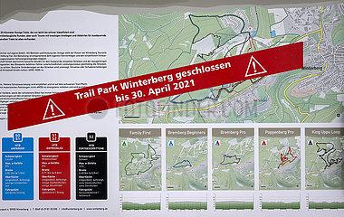 Trail Park Winterberg geschlossen  Winterberg  Sauerland  Nordrhein-Westfalen  Deutschland