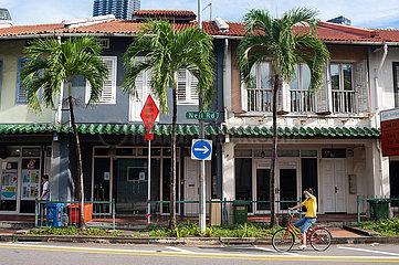 Singapur  Republik Singapur  Traditionelle Shophouses in den historischen Stadtvierteln Chinatown und Tanjong Pagar