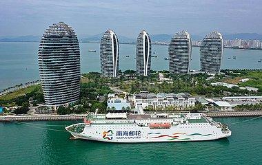 CHINA-HAINAN CRUISE-WEGE-WIEDERAUFNAHME Xisha Inseln (CN)