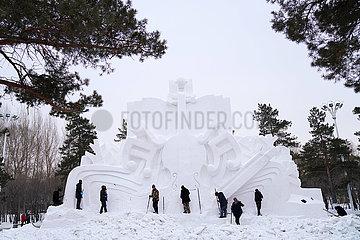 CHINA-HEILONGJIANG-HARBIN-SNOW BILDHAUEREI-Expo (CN) CHINA-HEILONGJIANG-HARBIN-SNOW BILDHAUEREI-Expo (CN)