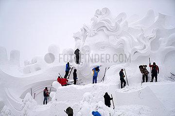 CHINA-HEILONGJIANG-HARBIN-SNOW BILDHAUEREI-Expo (CN)