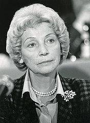 Annemarie Renger  Portrait  1986