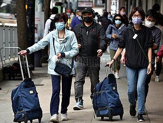 CHINA-Hongkong COVID-19 festgezogen Beschränkung (CN)