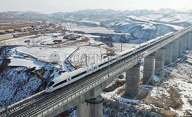 CHINA-GANSU-YINCHUAN-XI'AN-Hochgeschwindigkeits-Eisenbahn-Testbetrieb (CN)