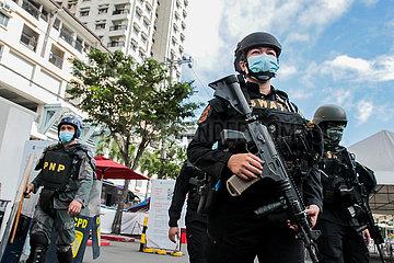 PHILIPPINEN-QUEZON-SIMULATION ÜBUNG-ANTI-TERRORISMUS BOMBING