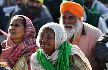 INDIEN-DELHI HARYANA Tikri BORDER-BAUERN-SIT-IN
