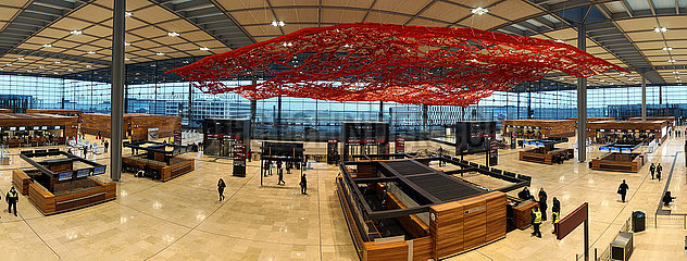 Panorama: Flughafen BER Berlin Brandenburg Willy Brandt
