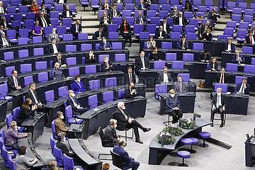 Festveranstaltung zum 75. Jahrestag der Gruendung der Vereinten Nationen  Bundestag  Reichstagsgebaeude  18. Dezember 2020