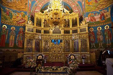 Republik Moldau  Capriana - Ikonostase in der Kirche des Klosters Capriana  eines der aeltesten (15. Jahrhundert) Kloster Besserarabiens