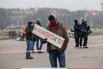 Proteste gegen die Corona-Maßnahmen in München
