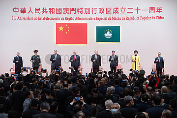 CHINA-MACAO-RETURN-21. Jahrestag-Empfang (CN)
