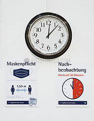 Testlauf im Corona Impfzentrum Essen  Nordrhein-Westfalen  Deutschland