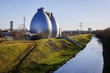 Klaeranlage Dortmund Deusen an der Emscher  Dortmund  Ruhrgebiet  Nordrhein-Westfalen  Deutschland