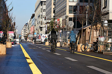 Berlin  Deutschland - Der autofreie Abschnitt der Friedrichstrasse in Berlin-Mitte.