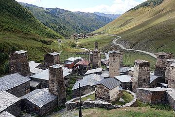 Ushguli  Georgien  Dorfansicht
