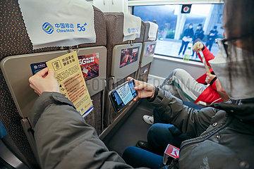 CHINA-PEKING SHANGHAI HOCHGESCHWINDIGKEITS- gleis 'RUHE AUTO' SERVICE (CN) CHINA Peking nach Shanghai HOCHGESCHWINDIGKEITS- gleis 'RUHE AUTO' SERVICE (CN)