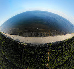Panorama Luftbild Usedom